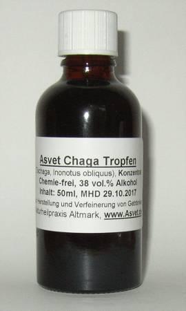 100ml Chaga Tropfen, Tschaga Extrakt, Konzentrat - Bild vergrößern