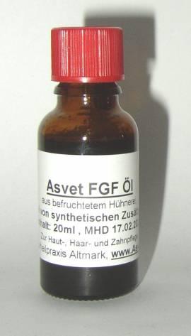 50ml Asvet FGF Eier Öl, das Original mit befr. Hühnerei zur Hautpflege, Stammzellen - Bild vergrößern