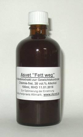 1 Monats-Bedarf Asvet -Fett weg-: 200ml Tropfen + 100g Pulver - Bild vergrößern