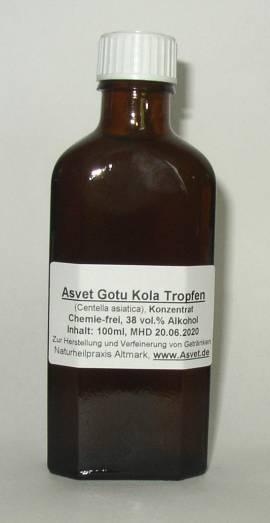 100ml Gotu Kola Tropfen, Tigergras - Extrakt, Centella asiatica Konzentrat - Bild vergrößern
