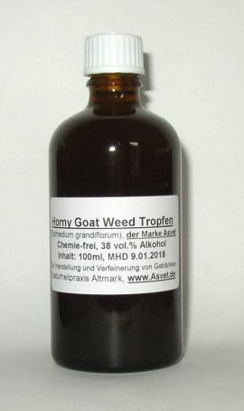 50ml Horny Goat Weed Tropfen, Elfenblume Konzentrat, Epimedium - Bild vergrößern