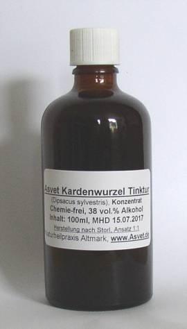 100ml Kardenwurzel Volltinktur aus Wilder Karde (für 36 Tage), Kardentinktur nach Wolf-Dieter Storl - Bild vergrößern
