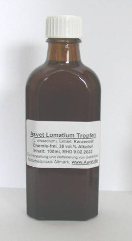 100ml Lomatium Tropfen, Extrakt, Konzentrat - Bild vergrößern