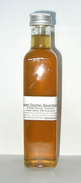 250ml Oxymel Kurkuma, Honig-Getränk, leckeres Konzentrat für 5 Liter - Bild vergrößern
