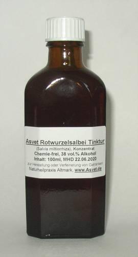 100ml Rotwurzelsalbei Tinktur, Extrakt, Salvia miltiorrhiza Konzentrat, Dan shen - Bild vergrößern