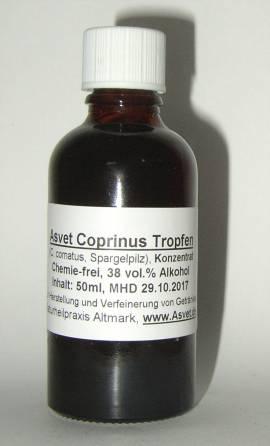 50ml Coprinus Tropfen, Spargelpilz Extrakt, Schopftintling Konzentrat - Bild vergrößern