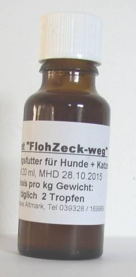 20ml -Asvet FlohZeck-weg-, Futter Tropfen für Hund + Katze - Bild vergrößern
